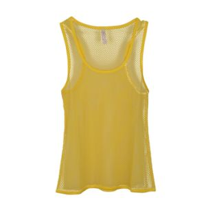 Women Fashion Apparel Underwear Lady Polyester Fishnet Tank Top pictures & photos