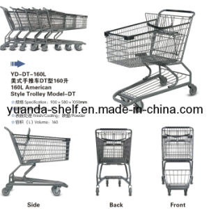 American Style Folding Metal Shopping Basket Trolley pictures & photos
