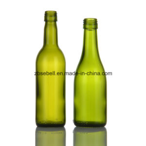 187ml Green Burgundy Glass Wine Bottles with Screw Top pictures & photos