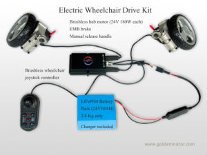 Electric Wheelchair Kit 8inch Brushless Motor Contoller (PW-8F) pictures & photos
