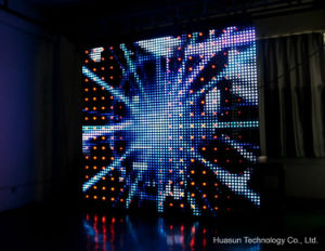 Foldable LED Displays Indoor and Outdoor (MESH -50) pictures & photos