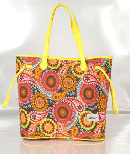 Colorful Canvas Lady Handbags for Shopping, Beach, Daily Use pictures & photos