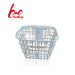 Folding Black Steel Bicycle Basket with Good Quality pictures & photos