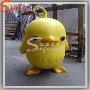 Kindergarten Decoration Artificial Crafts Big Yellow Duck Statues pictures & photos