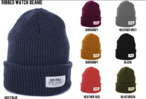 Flat Embroidery Grey Knit Cap pictures & photos