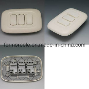 10A 3 Gang 2 Way ABS Ivory Wall Switch for South America Guatemala pictures & photos