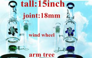 Factory Price Glass Lantern Shape with Diffuser Recycler Glass Smoking Pipe pictures & photos