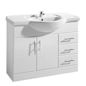 Gloss White MDF Bathroom Cabinets Vanity V-90 pictures & photos