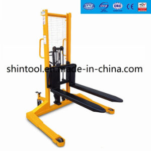 1.5 Ton Manual Pallet Stacker with Straddles Legs Sda-S15 pictures & photos