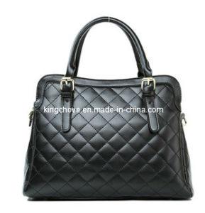 Fashion Black PU Stitching Tote Handbag (KCH13) pictures & photos