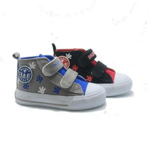2017 New Design Children′sshoe Kids Canvas Velcro Shoes pictures & photos