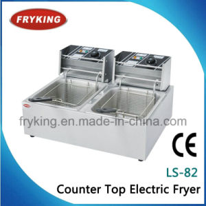 Double Tanks Electric Open Fryer for Restaurant pictures & photos
