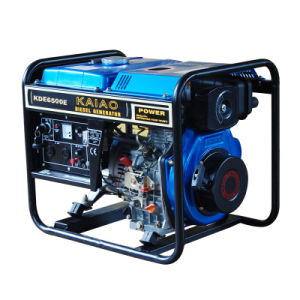 KDE6500E Portable Diesel Generator open frame 5kva with remote start pictures & photos