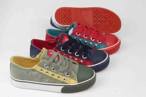 2016 Newest T Design Kids Canvas Shoes Vulcanized Shoes (SNK-02006) pictures & photos