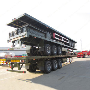 Tri-Axle 60ton 40FT Flatbed Semi Trailer for Sale pictures & photos