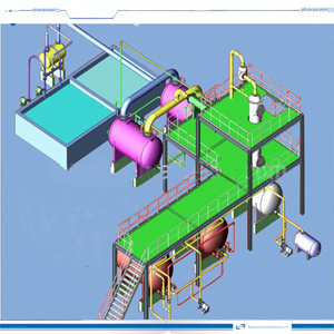 Pyrolysis Oil Refining Machine, Fuel Oil Distillation Palnt pictures & photos