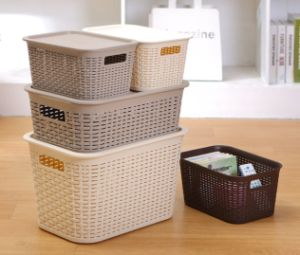 Plastic Storage Box with Rattan pictures & photos