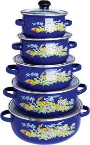 Enamel Casserole 5PCS Set 12-20cm (662EDG) pictures & photos