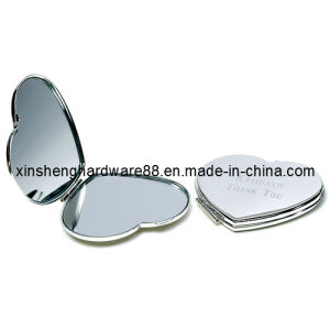 Metal Fashion Compact Mirror, Heart Shape Compact Mirror (XS-M0104) pictures & photos