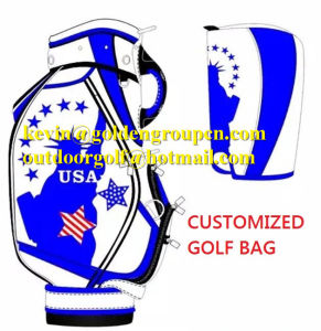 Special Color Mixing Unique Shape Staff Golf Bag Golf Caddy Bag pictures & photos