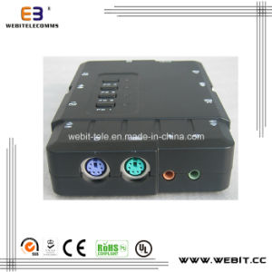 4 Port Kvm Switch with Audio Plastic Housing pictures & photos