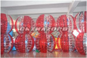 Popular Type Half Red&Half Clear Inflatable Zorb Soccer pictures & photos