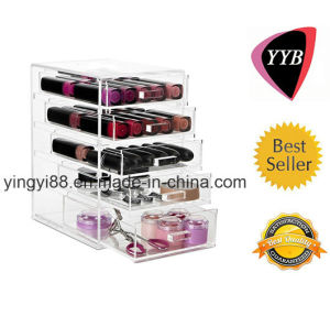 100% Hot Acrylic Make up Box with Drawers (YYB-877) pictures & photos