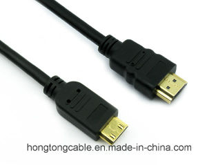 High Quality Mini HDMI to HDMI Cable for HDTV 1080P