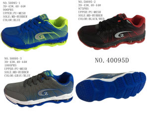 No. 50095 PU Upper Men′s Sport Shoes Three Colors pictures & photos