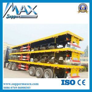 2016 New Tri-Axle 40-60 Ton Truck Trailer / 40FT Container Chassis Trailer with Container Twist Locks pictures & photos