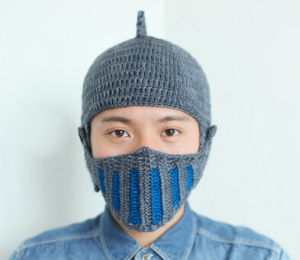 Special Mask Knight Handmade Knitting Knitted Hat pictures & photos