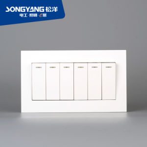 Electric Switch White Series 6gang Wall Switch pictures & photos