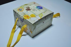 Best Quality Folded Mooncake Packaging Paper Cardboard Box pictures & photos