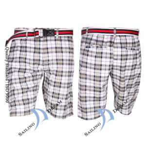 2014 Hot Sale Fashion Checks Printed Men Short (PS1214)