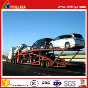 2axles Vehicle/Car Transporter Trailer with Air Suspension pictures & photos