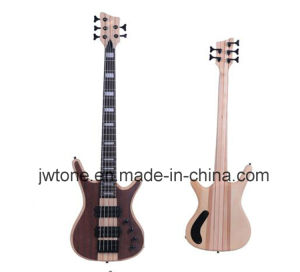 Neck Through Body Walnut Veneer Body Top Quality Bass Guitar pictures & photos