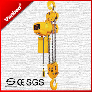 7.5ton Double Lifting Speed Electric Chain Hoist with Hook pictures & photos