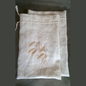 Customized Embroidery Linen Bread Bag pictures & photos