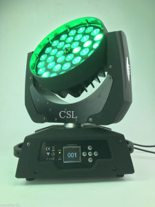 36X18W Rgbwauv 6in1 Zoom LED Moving Head Lights pictures & photos