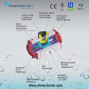 Pneumatic Actuator with Specification Drawing pictures & photos