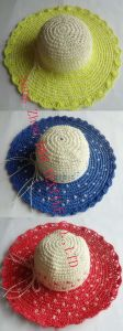 Women Paper Straw Wide Brim Hat /Sunhat (DH-LH9124) pictures & photos