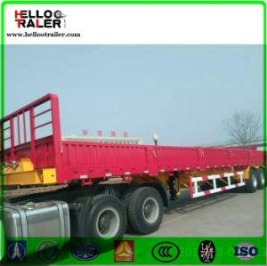 Tri-Axle Bulk Cargo Truck Trailer 50t Loading Cargo Box Semi Trailer pictures & photos