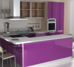China High Gloss UV Painting MDF for Kitchen Cabinet Door ...
