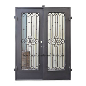 Whole Sales Exterior Hand-Forge Wrought Iron Entry Door pictures & photos