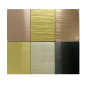 304 Steel Products Gold Hairline Color Stainless Steel Plate