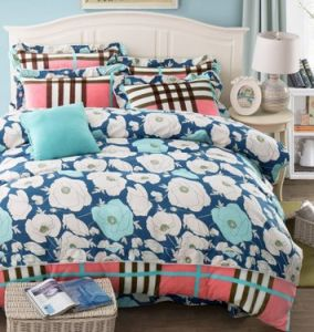 Flannel Fleece+ Fabric Bedding Set Warm Soft for Autumn and Winter pictures & photos