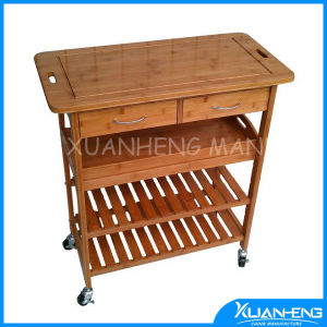 Bamboo Wooden Dining Trolley for Sale pictures & photos