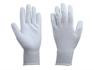 Nylon PU Glove pictures & photos