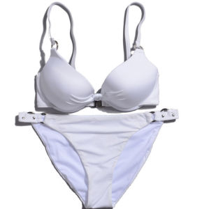 White Classice Simple Cheap Custom Two Pieces Bikini pictures & photos