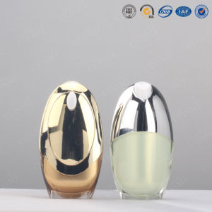 Silver Gold High Quality Fancy Plastic Acrylic Cosmetic Lotion Pump Bottle Bb Cream Bottle pictures & photos